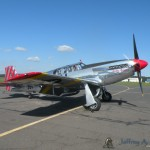 The &quot;Betty Jane&quot; a World War II era North American TP-15C Mustang starting up.